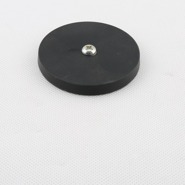 High Grade NdFeb Magent Rubber coated pot with internal thread