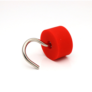 Neodymium Hook magnet rubber coated