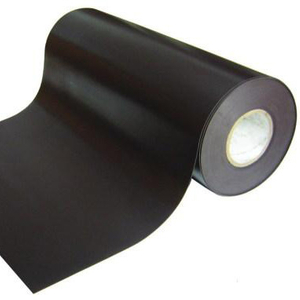 Flexible rubber coated magnet strip