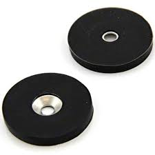 Dia 66mm Rubber coating ndfeb Magnet holder With screw hole