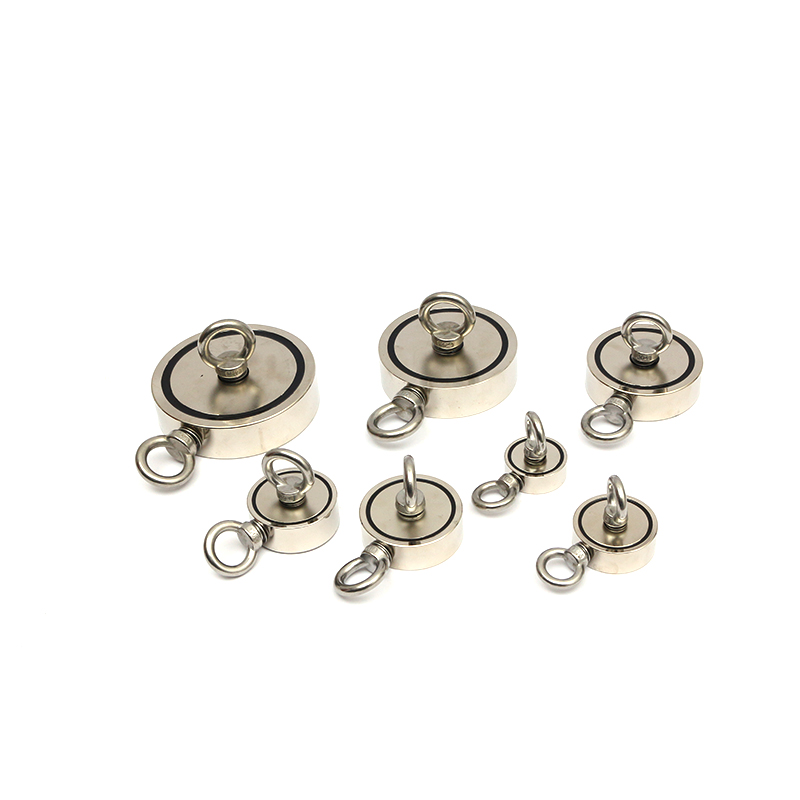Two flanks Neodymium fishing magnet with SS hook